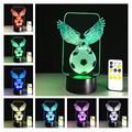 3D Illusion WOW World of Warcraft Logo Desk Table Night Light Lamp 7 Color Touch Lamp Kiddie Kids Children Family Holiday Gift