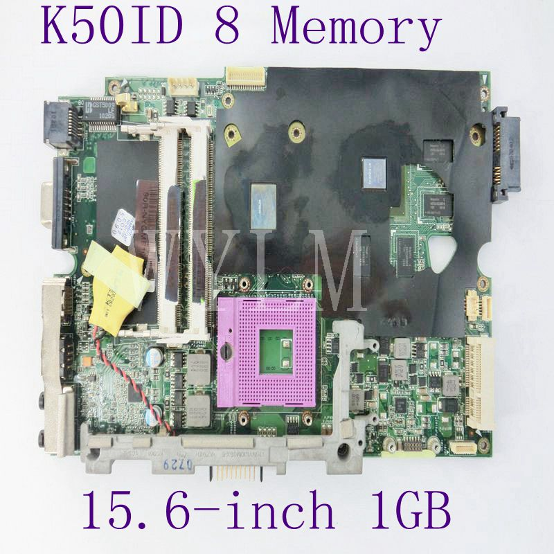 K50ID 1GB 8 Memory Motherboard For ASUS X5DI K50IE K50I K50ID Laptop Mainboard REV 3.2 DDR3 100% Tested Working free shipping k42dr hd5470 1gb mainboard rev 2 3 for asus a42d k42d k42dy k42dr laptop motherboard 2 slots 100% tested working free shipping