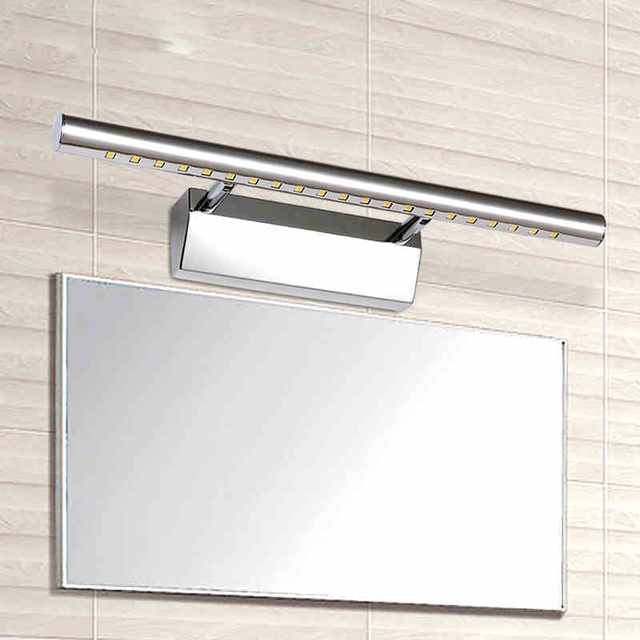 W Led Mirror Light Rotatable Lamp Holder Bathroom Mirror Wall Lamp - Stainless steel bathroom light fixtures