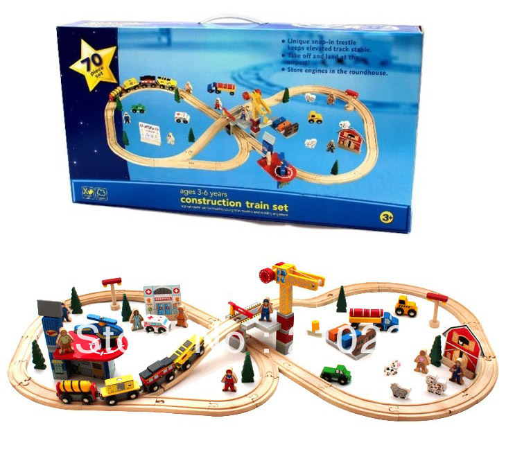 Imaginarium Deluxe Wooden Railway Set Thomas Train Toy70pcs