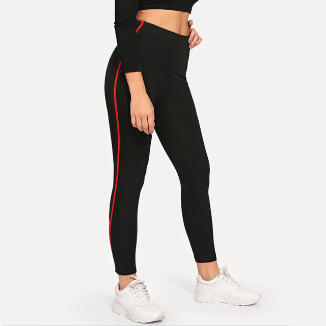 Casual Leggings Sport Leggings Fitness Breathable Black Jeggings Activewear Stretch Slim Pants Women Leggings Workout Trousers 1