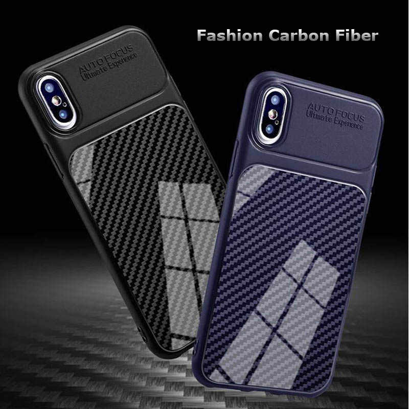 For Huawei Honor 9 10 P8 lite Mini 7C 7X 7A Cases Carbon Fiber ShockProof Cover For Huawei Mate 20 lite Pro Y9 Y5 Y6 Prime 2018