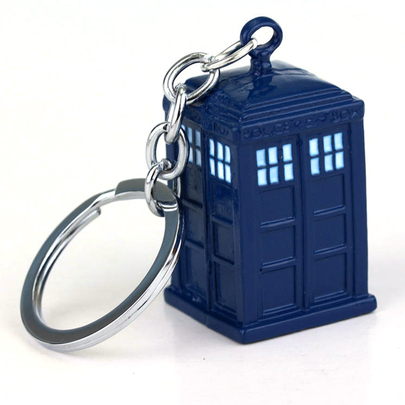 Doctor Who Keychain Toy Police Public Call Box 10th 11th 12th Dr. Mysterious Baymax Robot Big Hero 6 Rick and Morty Mr. Meeseeks