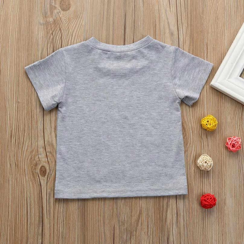 MUQGEW เด็กวัยหัดเดินเด็กทารกเสื้อผ้าแขนสั้นพิมพ์ Tops เสื้อยืดเสื้อ Ask Me About My Moo COW 0531