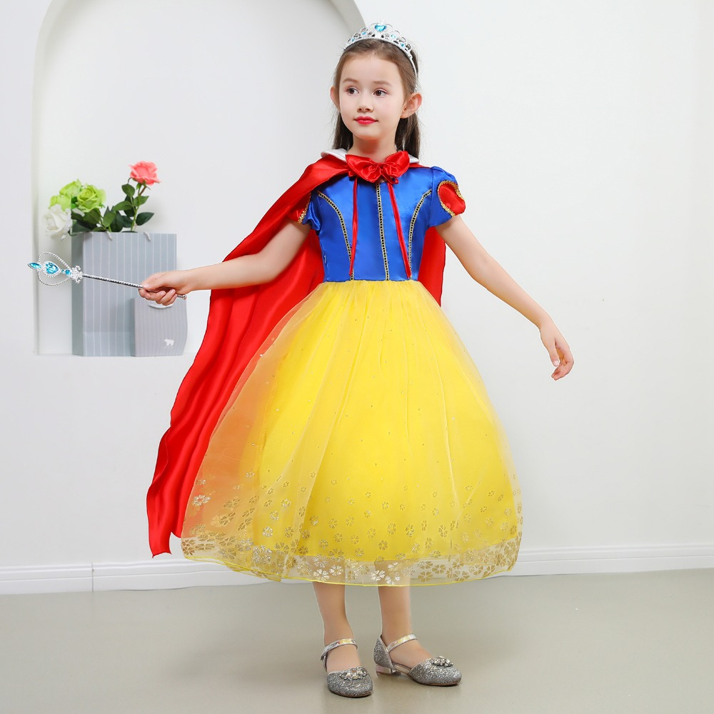 Girls Costume Dress Up Halloween Kids Snow White Princess Costumes Cinderella Children Tutu Birthday Party Dresses Cosplay Dress