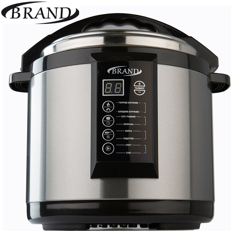 BRAND6060 Electric pressure home smoker cooker. 6L Multivarka electric Cooking fast Rice cooker Smokehouse Smoking Oil lamp