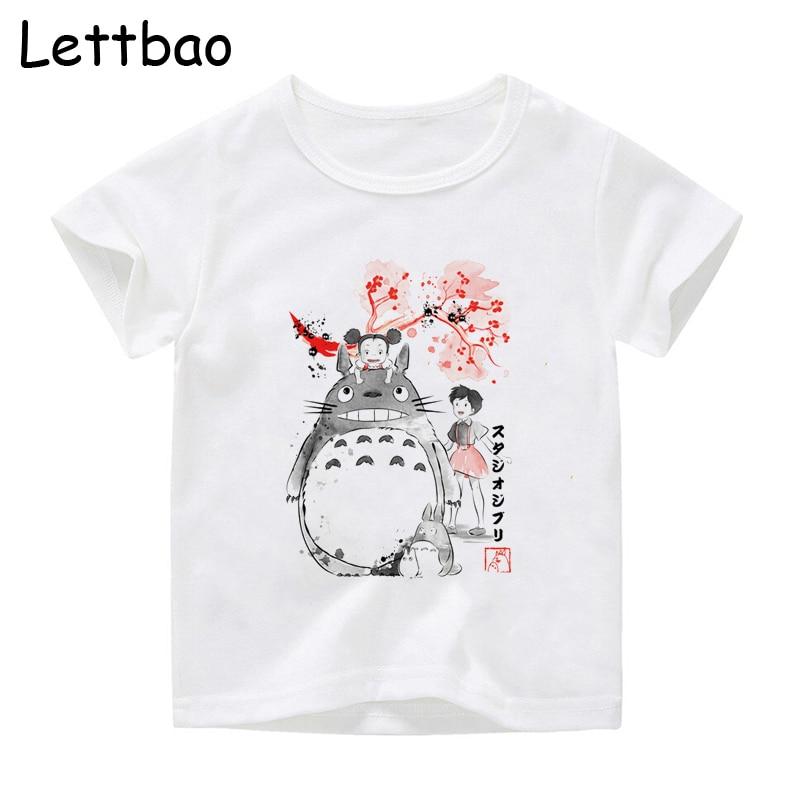My Neighbor Sumi-E Totoro Baby Boy Tops Tee Shirt Children Clothing Japan Anime Kids T Shirt