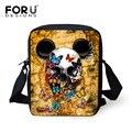 FORUDESIGNS Kids Messenger Bags for Women Cool 3D Skull Printing Girls Boys Crossbody Bags Children Mini Shoulder Bag Mochila