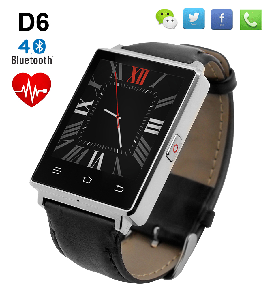 NO.1 D6 Bluetooth Smart Watch Phone Pedometer Heart Rate Monitor 3G Wifi Smartwatch for iPhone 5s 6s 7 for Samsung S7 PK U8 GT08 2016 bluetooth smart watch gt08 for