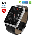 No. 1 d6 smart watch teléfono podómetro monitor del ritmo cardíaco de bluetooth 3g wifi smartwatch para iphone 5s 6 s 7 para samsung s7 pk u8 gt08