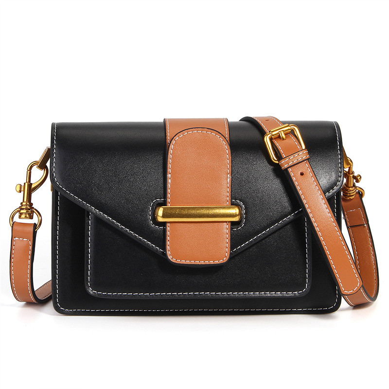 Nesitu New High Quality Luxury Khaki Green Red Black Split Leather Cute Small Women Messenger Bags For Girl Shoulder Bags #M186