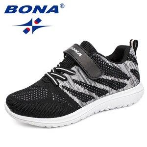 Image 2 - BONA New Arrival popularny styl dzieci obuwie siatkowe trampki chłopcy i dziewczęta płaskie dziecko świecące buty do biegania szybka bezpłatna wysyłka