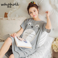 2017 Summer 100% Cotton Women Letter Nightgown Female Fashion Outwear Lady Pockets Nightdress Girl Pijama Home Clothes Size 3XL недорого