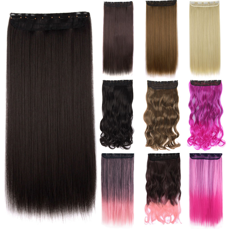 Hair Extensions & Wigs 24 Long Kinky Curly Hairpieces 5 Clip In Hair Extensions Blonde Clips On Heat Resistant Synthetic Hair Piece Women Mapofbeauty Synthetic Clip-in One Piece