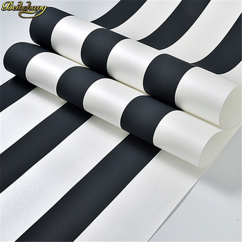 beibehang Classic black wallpaper roll Mural Luxury 3D striped wallpapers for living room decoration TV wall papers home decor