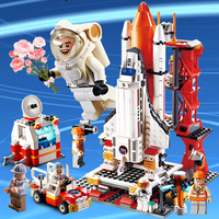 Compatible Legoinglys City the Space Shuttle Rocket Creator Toys for Children Building Blocks Bricks Airport Station Boys Gift