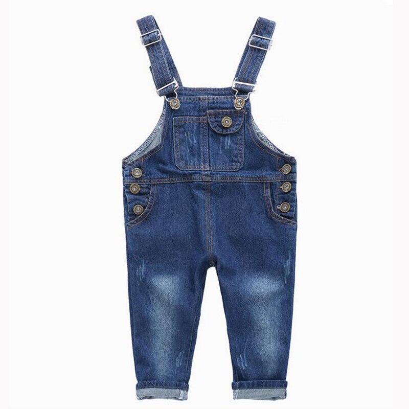 venta de tienda outlet en stock reputación primero €12.34 20% de DESCUENTO|Nuevo otoño niño bebé niña niño bebé Mono vaquero  mono Jeans para niñas niños ropa pantalones de bolsillo 2 4 5 3 6 hace 3 ...