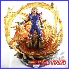 FÃS MODELO shadow Dragon Ball Z super saiyan Vegeta gk resina estátua conter led light toy figura para Coleção(China)