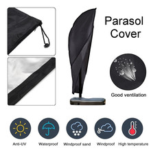 Oxford Parasol Outdoor Banana Umbrella Cover Garden Weatherproof Patio Cantilever Parasol Rain Cover Accessories 265x40x70cm(China)