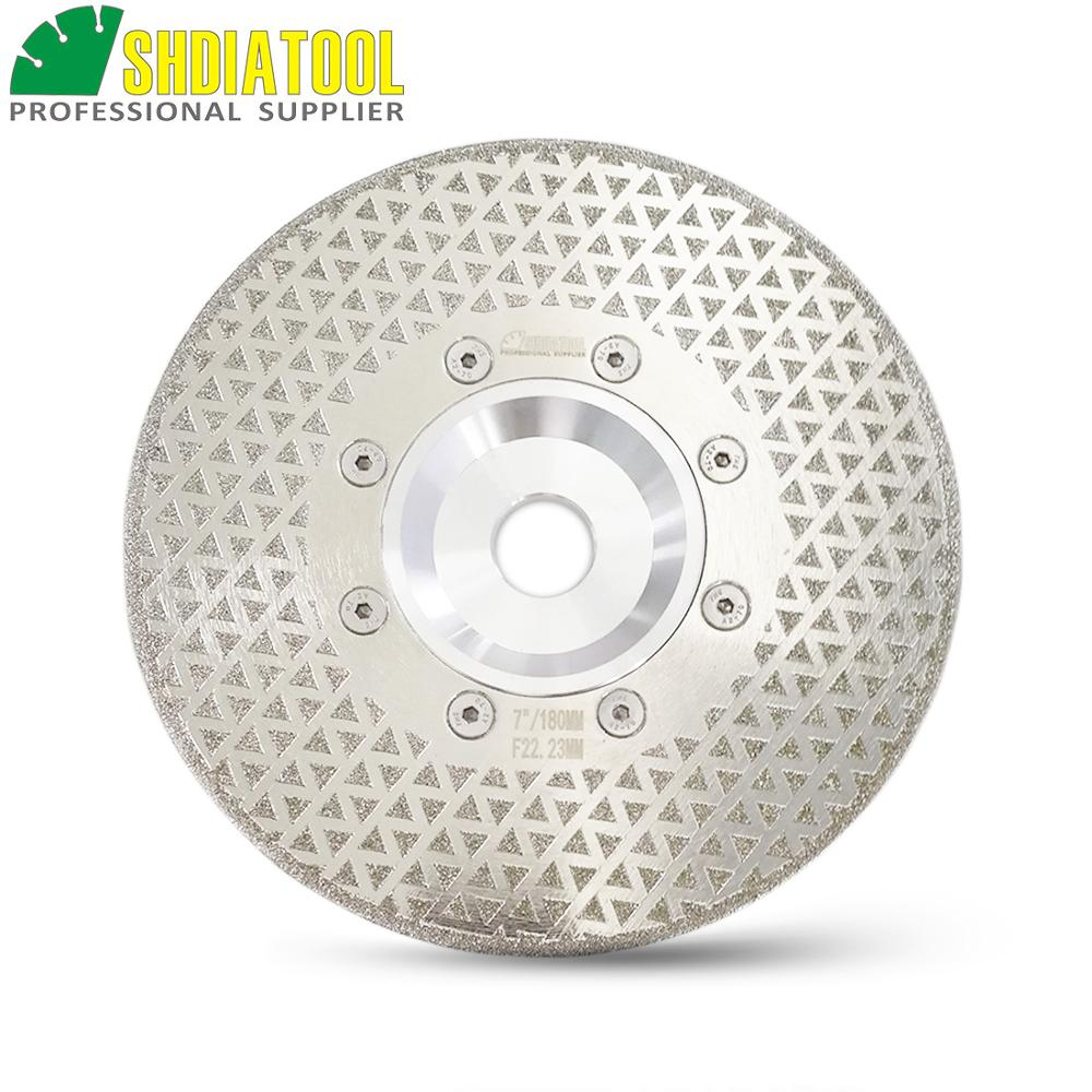 SHDIATOOL 1pc Electroplated Diamond Cutting & Grinding Disc Granite Marble Both Side Coated Diamond Blade