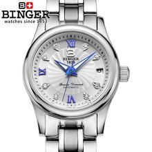 Switzerland BINGER Women's watches luxury18K gold Mechanical Wristwatches full stainless steel Waterproof Wristwatches B-603L