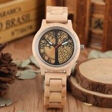 Часы из натурального бамбукового дерева, женские часы от топ бренда, Роскошные Кварцевые женские часы под платье, деревянные часы под углом для подарка, horloges vrouwen