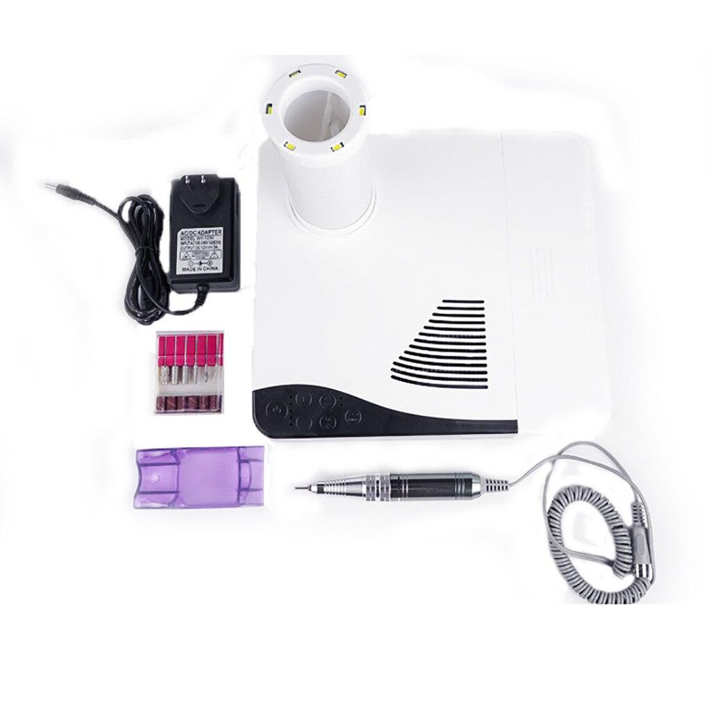 EU/US Plug 1 шт. 60 Вт всасывающий пылесборник для удаления пыли для салона ногтей, пылесос, маникюрный аппарат, низкий уровень шума, инструмент дл... - 2