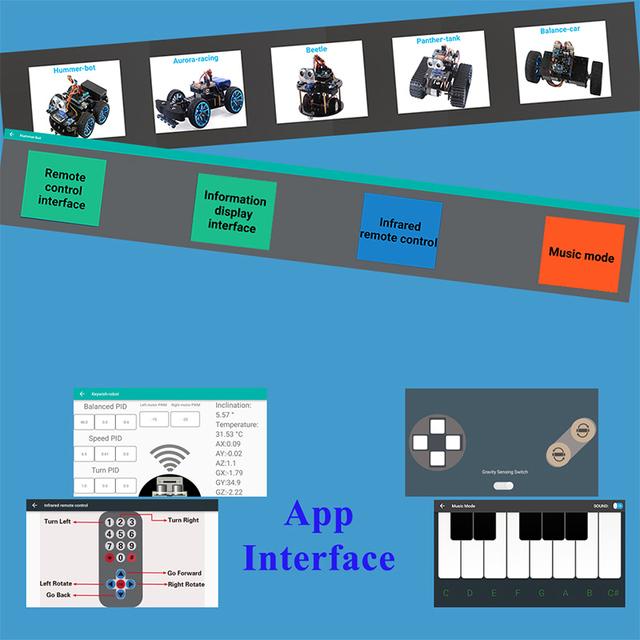 Robot Remote Control Ultrasonic Robotics Learning Kit
