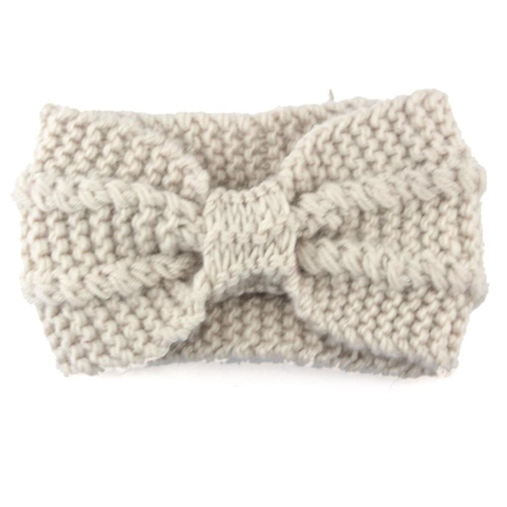 ᗖNuevas mujeres de diseño de moda crochet sólido diadema mariposa ...