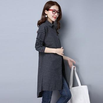 New Spring Women Blouse Long Sleeve Vintage Shirt