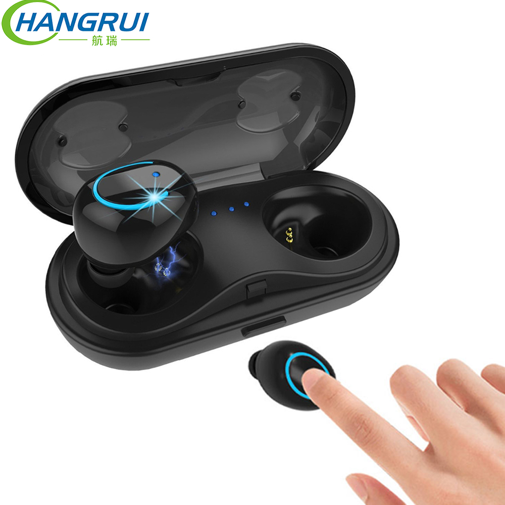 2019 TWS Bluetooth écouteurs sans fil casque Mini véritable stéréo écouteurs sport voiture écouteurs charge étui avec micro pour téléphones