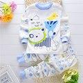 Infantil bebê roupas roupas traje definido para 2017 primavera outono conjuntos de roupas de marca do bebê das meninas do menino de manga longa de algodão esportes terno