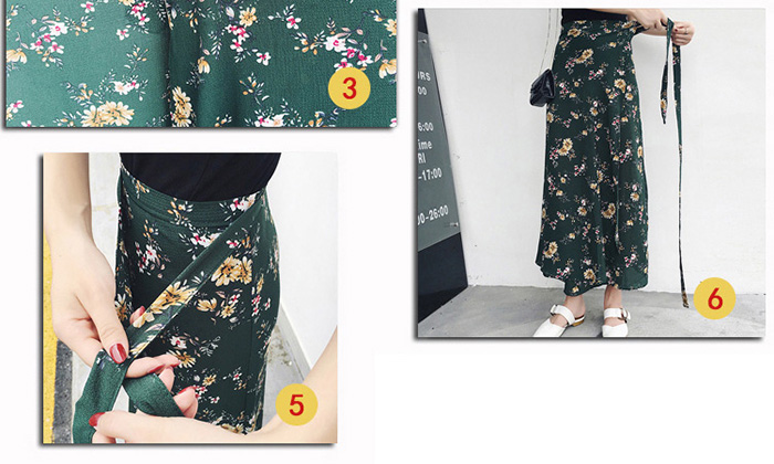 Boho Asymmetrical Chiffon Maxi Long Skirts 14