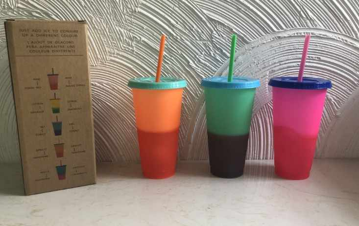 color changing cup    set of 5