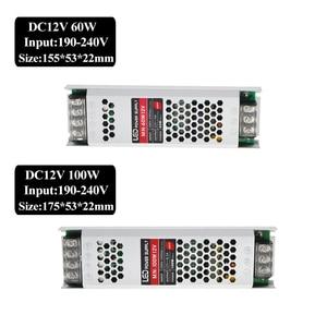 Image 4 - Ultra mince LED transformateurs alimentation DC 12 V bandes 100 W 150 W 200 W 300 W AC190 240V pilote pour ampoules néons à LED