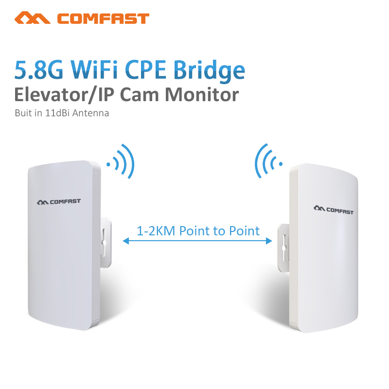 2pc 1-2km Long distance Outdoor 5.8G Wifi router 2 extender signal Amplifier point Wifi AP Wireless bridge cpe wi fi Antenna