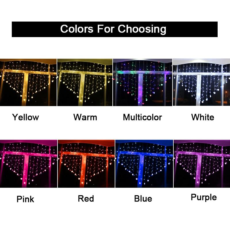 JULELYS 2 * 1.5 124 էլեկտրական լամպ Սրտի LED - Տոնական լուսավորություն - Լուսանկար 2