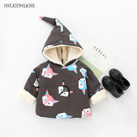 HYLKIDHUOSE Spring Autumn Infant Newborn Coats Hooded Baby Girls Jackets Cartoon Children Cotton Outerwear Kids Casual