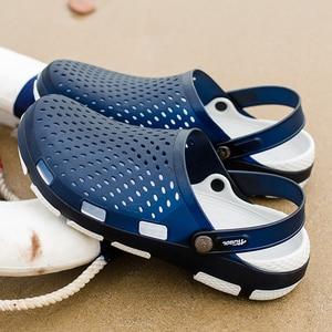 Image 3 - 남성 나막신 샌들 플랫폼 슬리퍼 남성 신발 Sandalias 여름 해변 신발 Sandalen 슬리퍼 Sandalet hombre Sandali New 2020