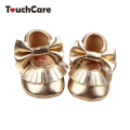 Newborn Cute Candy Color Baby Girl Shoes Kids Soft Butterfly-knot PU Leather Moccasins Toddler Moccs Princess Baby First Walker