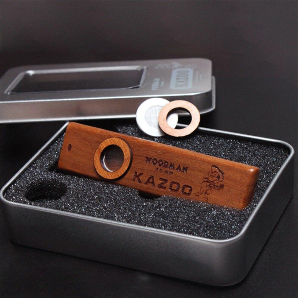 Instruments en bois populaires Kazoo Orff instrument de guitare ukulélé Harmonica en bois avec boîte en métal