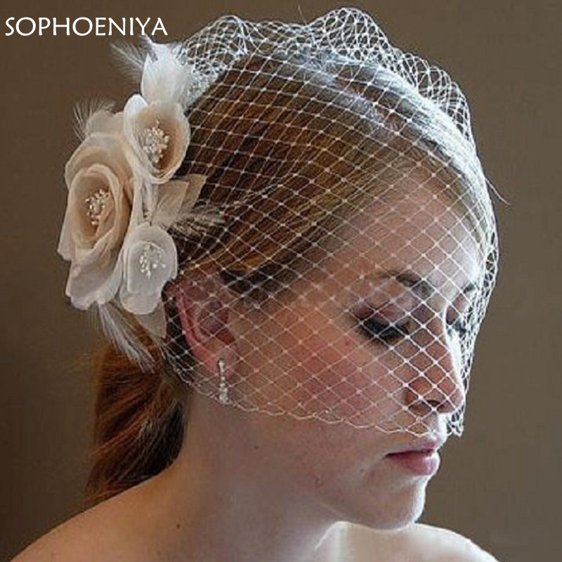 New Arrival Champagne Bridal Veil 2020 Flower Wedding Accessories Velo De Novia Bridal Veils