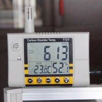 AZ7721 Газоанализаторы Крытый тестер качества воздуха крепёж CO2 & дисплей, показывающий температуру