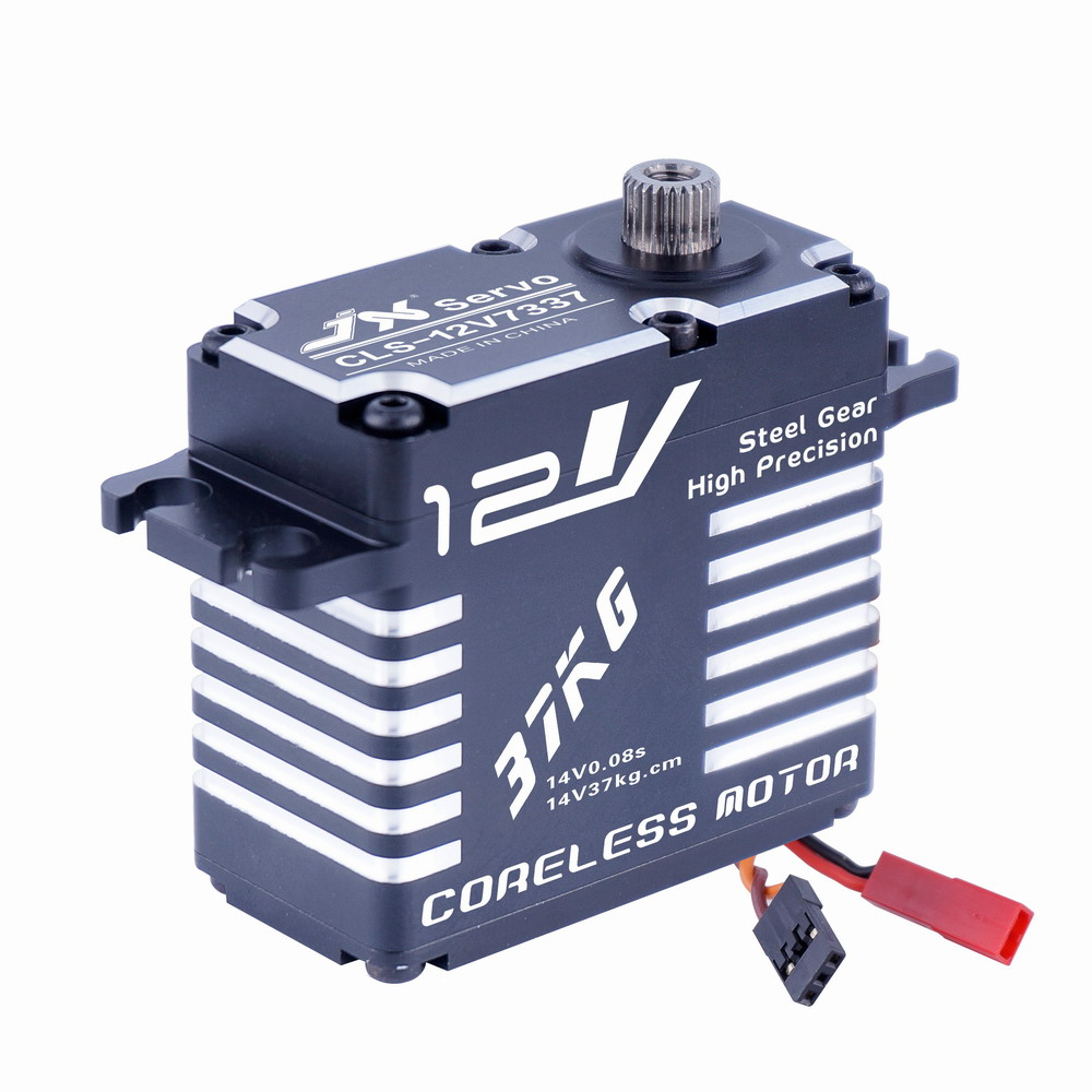 Superior Hobby JX CLS-12V7337 37KG 12V High Precision Steel Gear Full CNC Alum Shell Digital Coreless Standard Servo superior hobby jx pdi 6208mg 8kg high precision metal gear digital standard servo