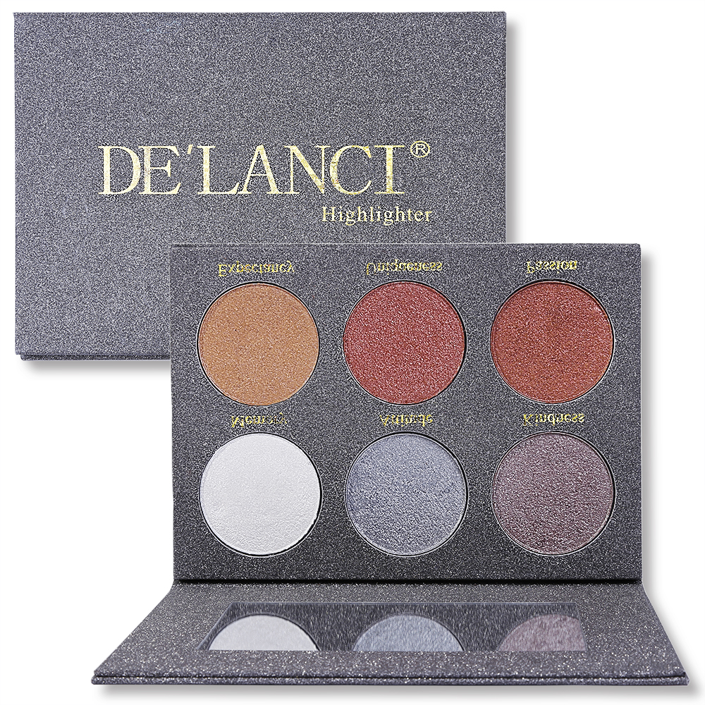 DE'LANCI Wet Cream Highlighter Bronzer Glödkit Ansikts Makeup Ögonskugga Palett Skönhetsmedel Make up Palette