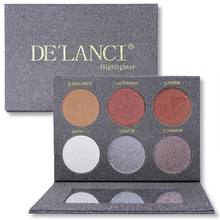 DE'LANCI Wet Cream Highlighter Bronzer Glow Kit Face Makeup Eyeshadow Palette Beauty Cosmetics Make up Palette