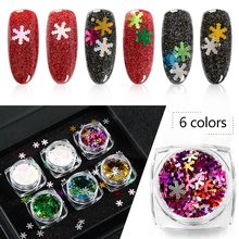Mtssii Colorful Snowflake Nail Art Sequin Symphony Spangles