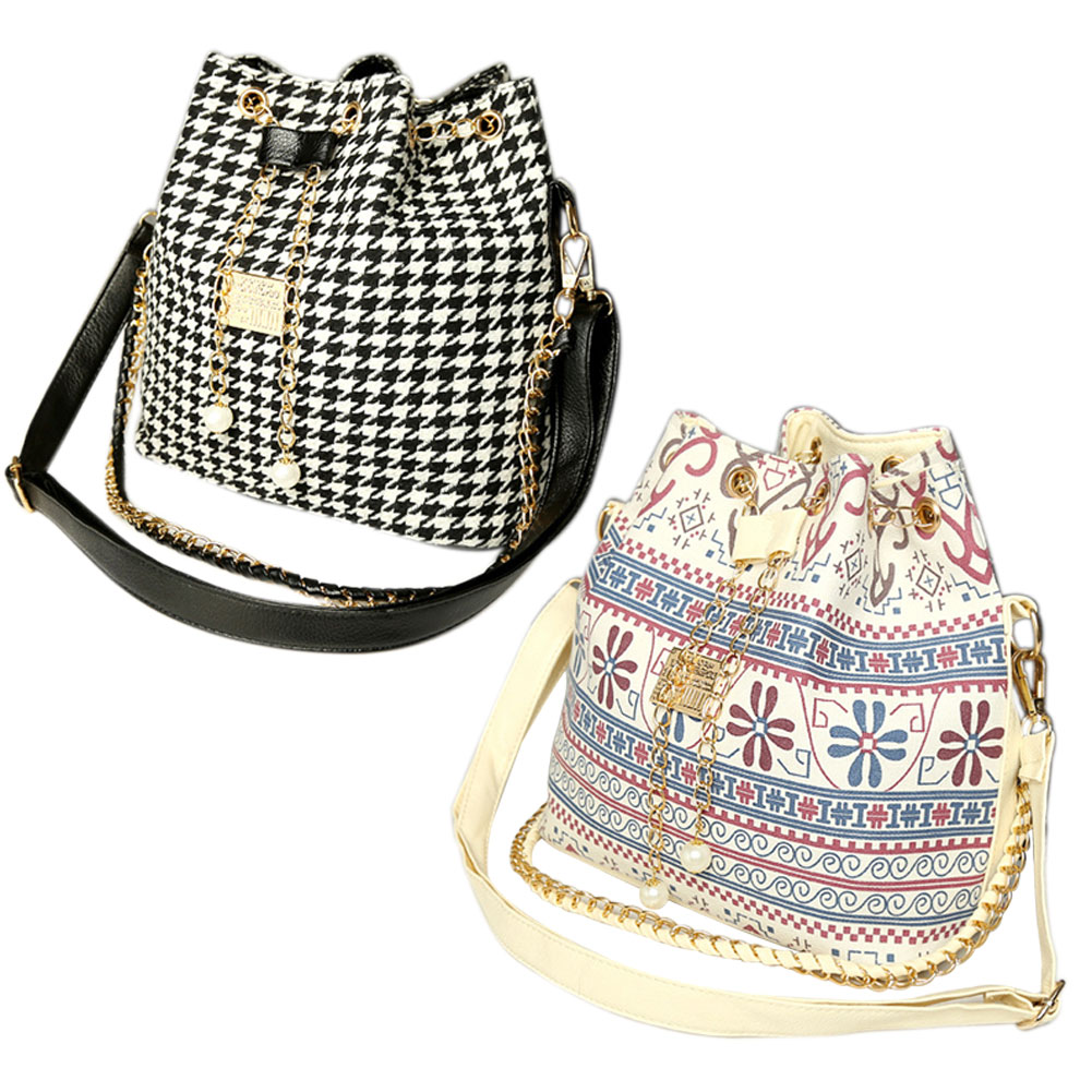 Women's Delicate Bucket Bag Chain Shoulder Bag Messenger Bag Tote E2shopping WML99