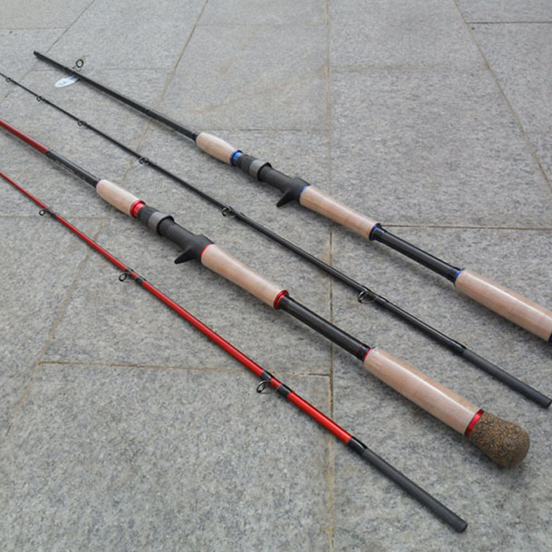 2.28m Casting Rod XH Action Snake Head Rod High Carbon Fishing Rod Bass Lure Rod Cork Handle Fuji Reel Seat Korea Guides купить