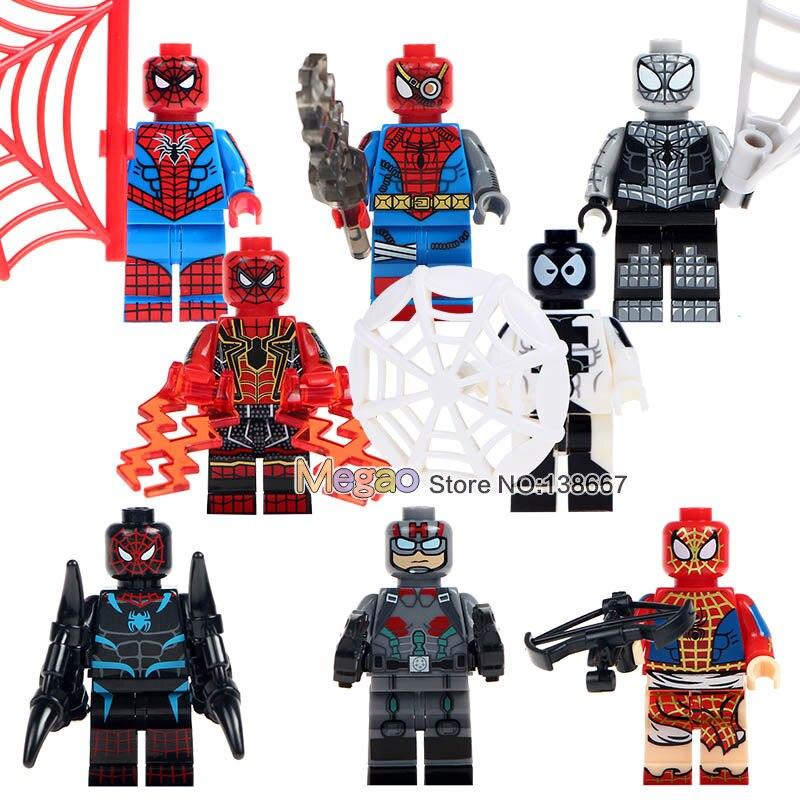 10Lots of SY674 Marvel Spiderman Set Venom Carnage Iron Spider Man 2099 Building Blocks Sets Model